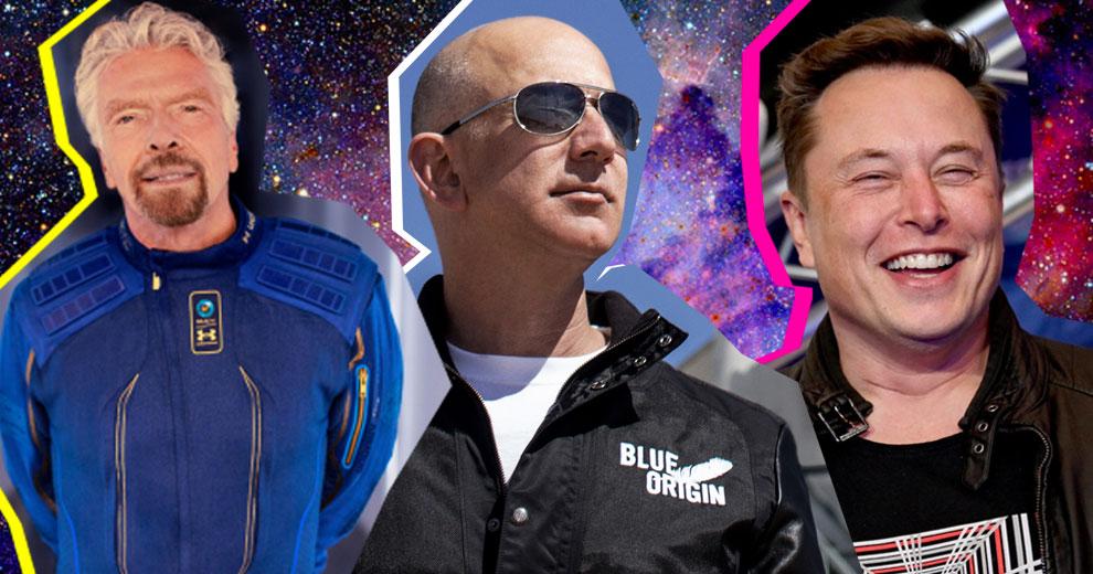 Branson, Bezos y Musk, los tres mosqueteros espaciales